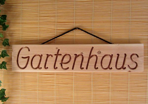 gartenhaus holz dekoschild wandschild douglasie massiv natur 56 cm lang ebay. Black Bedroom Furniture Sets. Home Design Ideas