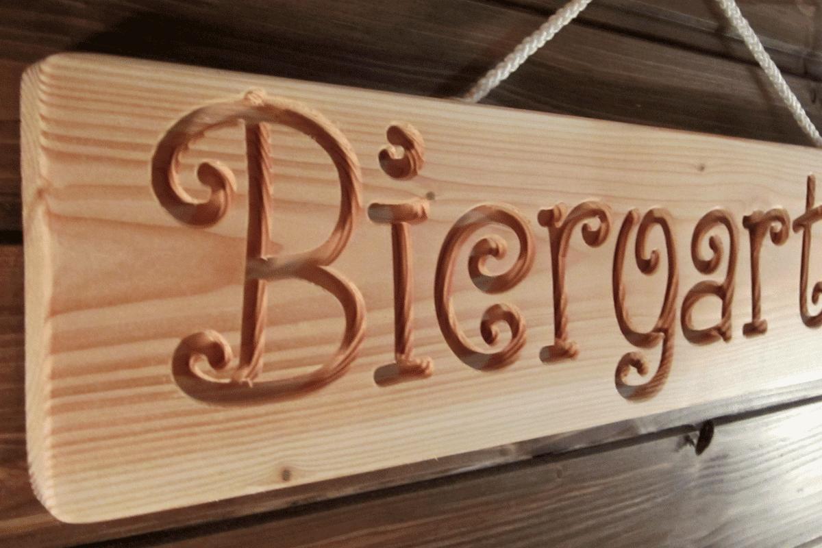 jardín idea de regalo Cerveza jardín-madera dekoschild masivamente bar serigrafía grabado